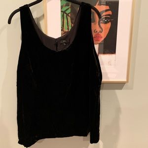 jcrew black velvet shell